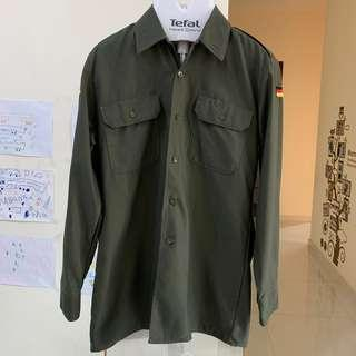 German military shirt Olive Gray