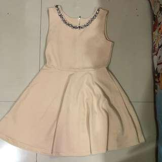 Dress Pesta Nude / Cream