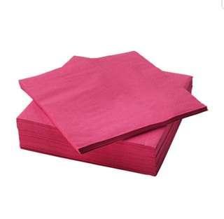 NEW IKEA Pink Paper Napkin 40cm×40cm (Bangkok)