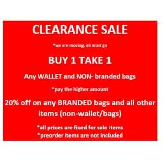 CLEARANCE SALE bags, wallets all other items