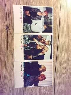 BTS Poloriod Style Double Sided Photocards Set of 3