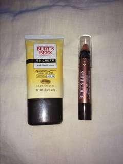 Burt's Bees BB cream and gloss lip crayon
