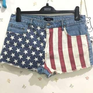 FOREVER 21 US FLAG SHORT