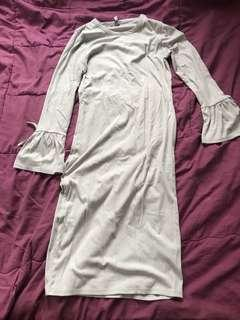 Cotton on ribbed long top / dress