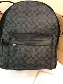 Ready Stock Original Coach men Original Backpack logo laptop bag