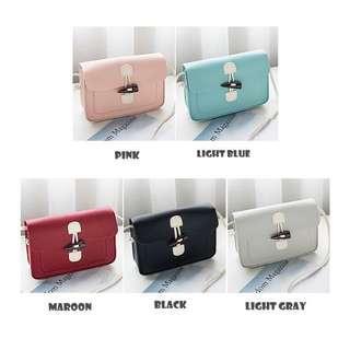 Korean Style Pink Handbag Sling Bag