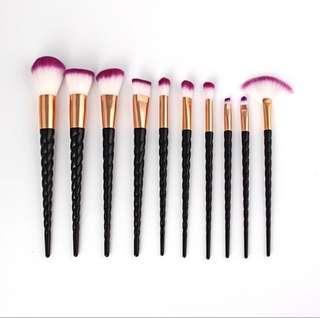 Black Unicorn Makeup Brushes