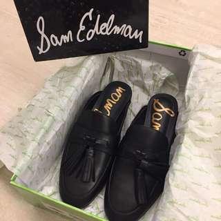 Sam Edelman Black Leather Slippers
