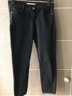 Zara Denim Ankle Skinny Jeans (Black)