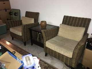 Two Rattan Chairs