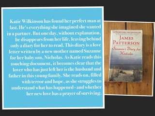 """James Patterson """"Suzanne's diary for Nicholas"""""""
