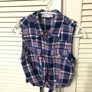 🚚 【售/換】⏰全面出清⏰格紋無袖上衣#可換物#半價衣服拍賣會