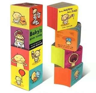 Baby's Book Tower 兒童早教認知行為培養厚紙板書 4本套