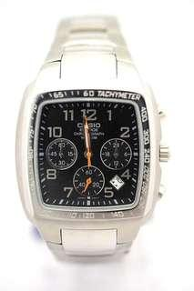 UP$480 36mm Casio Chronograph Watch Stainless Steel