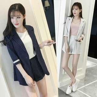 😊Terno Blazer and shorts 2 colors available