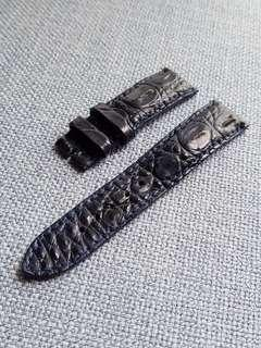 Genuine Crocodile Hornback 22mm watch strap midnight blue sample set