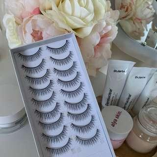 Natural fake lashes / falsies 9pairs
