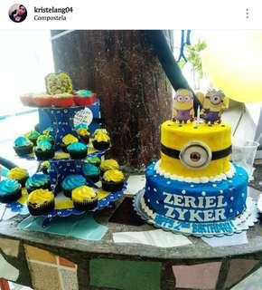 Party Needs (Cup Cake Stand, Fiesta Banner, Piñato, Birthday Banner)