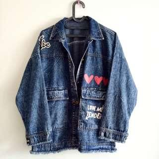 Jeans Dark Blue Denim Jacket