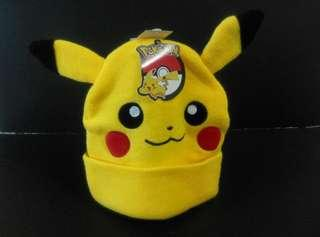 Bioworld Pokemon Pikachu beanie hat 寵物小精靈 比卡超 毛冷帽