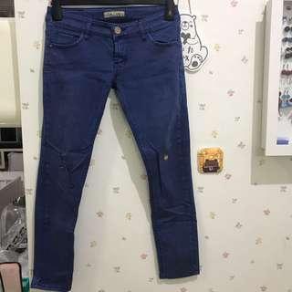 Celana panjang biru elektrik dupe zar*