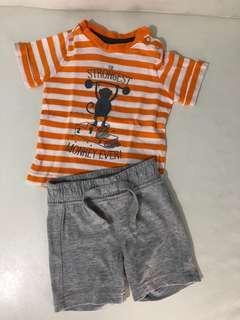 Kaos + celana bayi mothercare