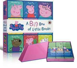 Peppa Pig A Big Box of Little Books 手掌紙板書 9本套裝