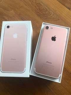 Almost brand new iPhone 7 rise gold 128GB