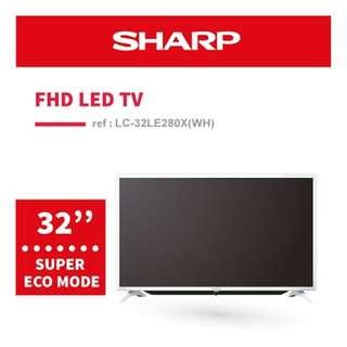 Brand New Sharp Aquos HD TV LC-32LE280X-WH