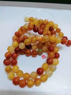 Dragon Scale Red Agate Beads