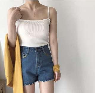 Straight neck cami (white)
