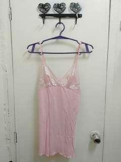 Cute pink w/ lace lingerei dress