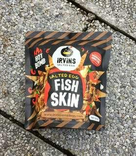Irvins fish skin salted egg Hot bomb spicy+garlic ready stock 105gr&230gr