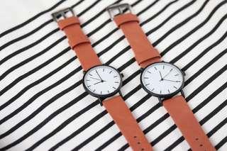 Bauhaus Tan Watch