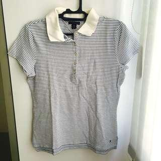Tommy Hilfiger blue stripes polo shirt