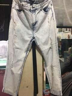Repriced Boyfriend Acid wash Pants