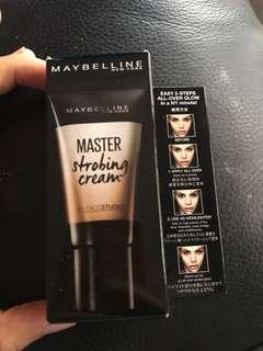 Maybelline master strobing cream 修顏粉底霜/光影霜