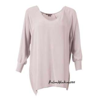 VINCE BASIC HIGH LOW LOOSE BLOUSE
