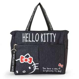 b610daad11cf  PO  Sanrio Japan Hello Kitty Denim Style Square Tote Bag