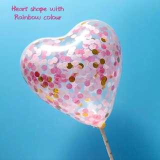 ♥️ Instocks Birthday cake toppers/ Confetti Ballons/ Heart shape