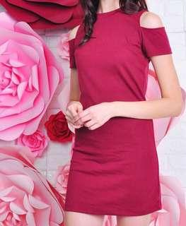 PURPUR Maroon Dress
