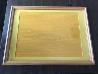 Wood puzzle/photo frame