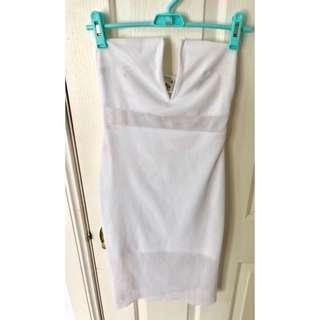 White mesh Bodycon dress