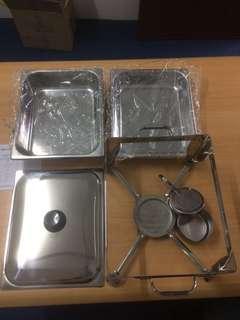 Chafing Dish/Bekas Hidang Makanan Kenduri  (Half Size) SET 1
