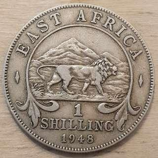 1948 East Africa King George VI Shilling Coin