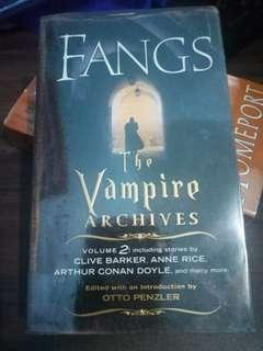 Fangs Vampire Archives by Otto Penzler