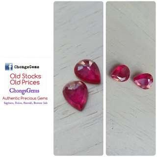 3.11 carats ruby Gemstone pair great for earrings reduced