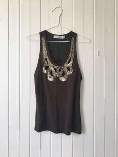 Zara Tank Top in Dark Brown