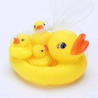 咇咇鴨仔 嬰兒洗澡玩具 戲水玩具 一大三小