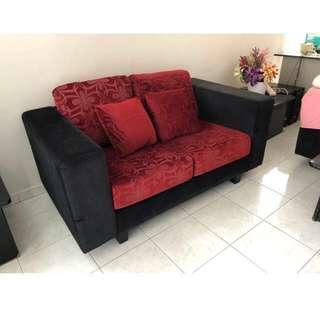 Fully fabric 2 seater sofa